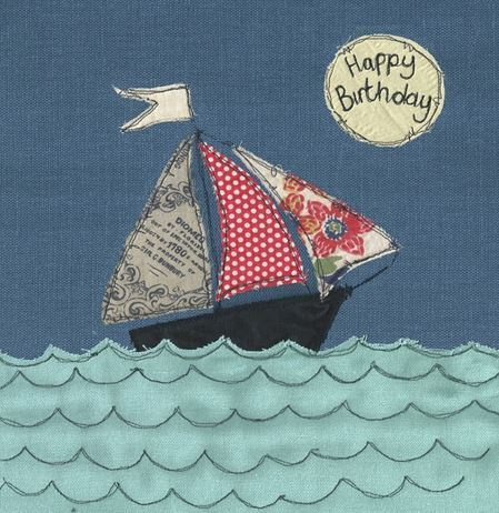 Saily Boat Birthday Card