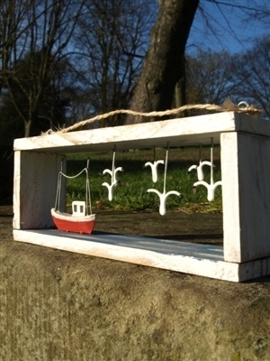 Red Boat Box Frame