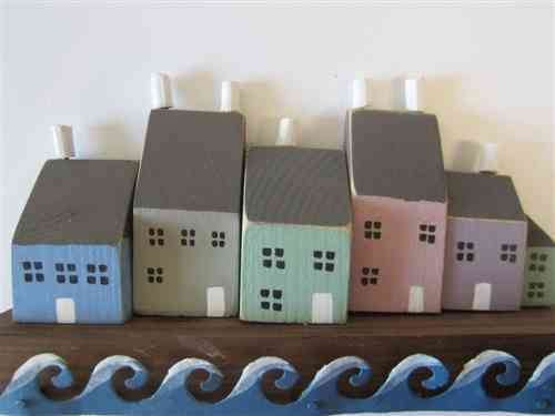 Quayside Houses With Waves